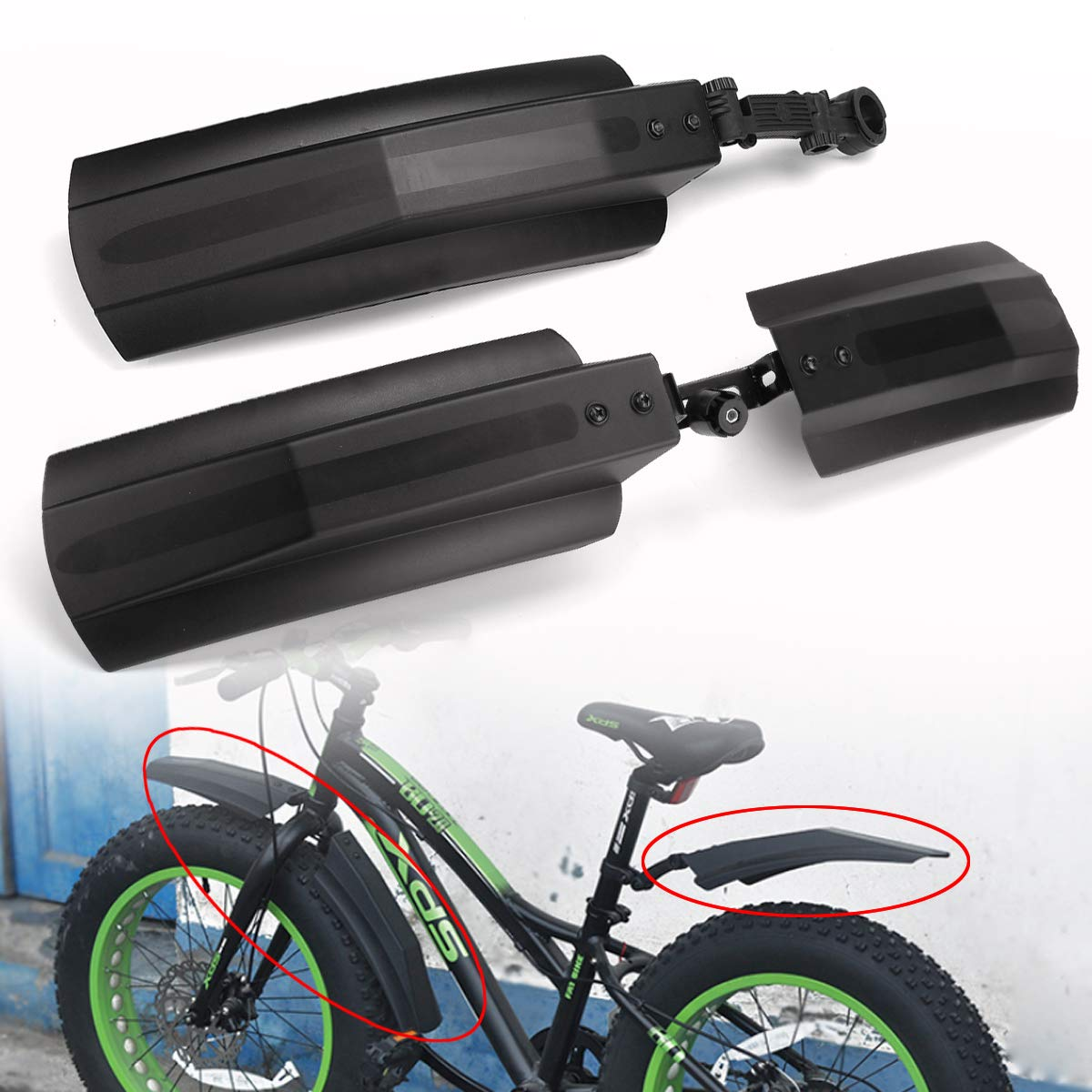 Bicycle Parts Cycling Accessories Mountain Bike Fenders Front Rear Mudguard