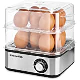 Kennedich 16 Capacity Electric Egg Cooker Hard Boiled, Poached, Scrambled Eggs, or Omelets with Auto Shut Boiled Egg…