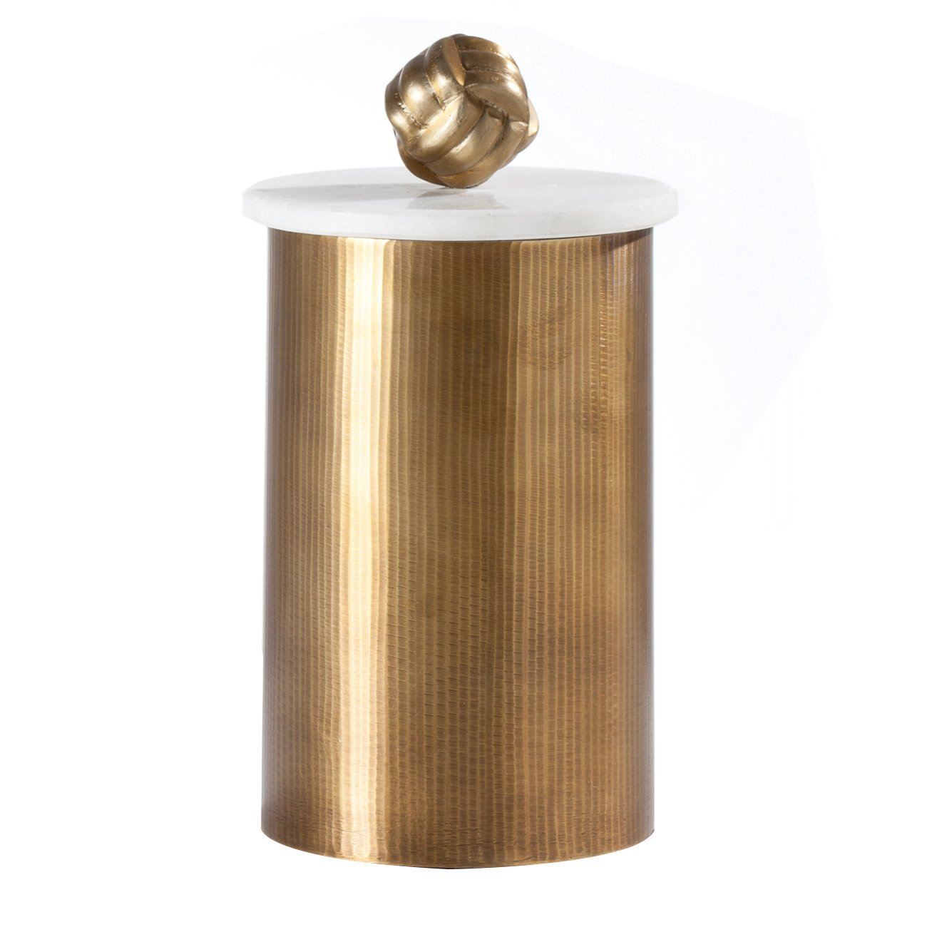 Torre & Tagus 902252C Tomar Antique Brass Ribbed Canister-Tall