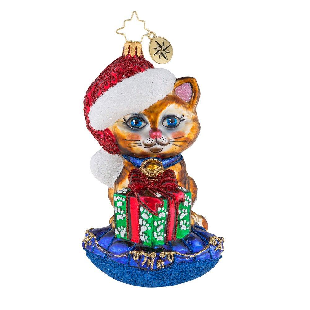 Christopher Radko A Little Coy, Kitty! Christmas Ornament