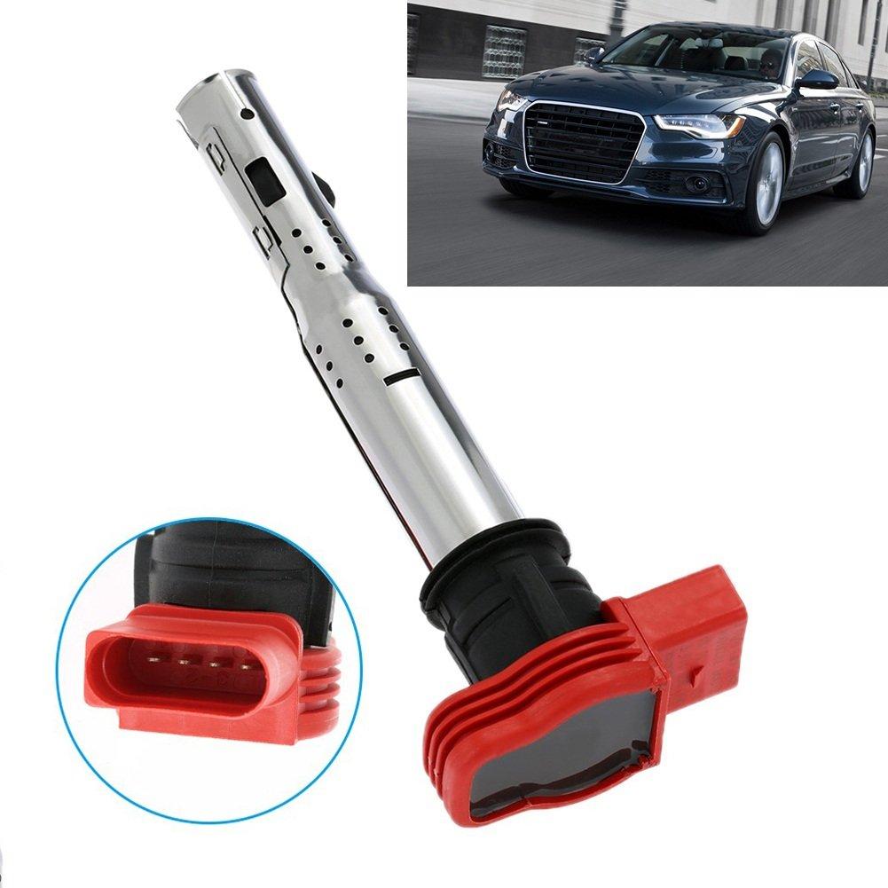 Coche Bobina de encendido Bujía Conector Rojo Boquilla para Audi A4 A5 A6 A7 A8 Q5 Q7 R8 06e905115e: Amazon.es: Coche y moto