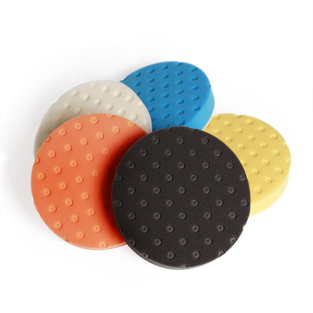 Fontic deals Pad Buffing Foam Sponge Buffing Polishing Pad Kit Set For Car Polisher Sanding Polishing Buffing,Multi-ColorX5 PCS 7Inch