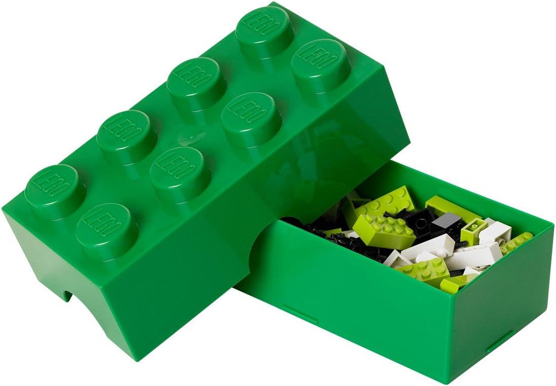 Room Copenhagen- Caja de Almuerzo de Lego de 8 espigas. Pequeño contenedor de Almacenamiento o Estuche, Verde, Color Oscuro, One Size (40231734): Amazon.es: Hogar