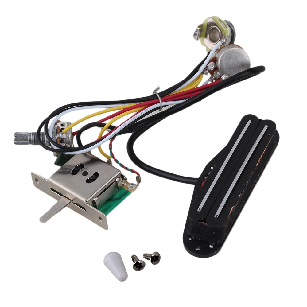 Yibuy Electric Guitar Dual Coil Pickup Humbuck Circuit Fender Twin Power Cord Wire Diagram Wiring Harness Pot Switch Set Musical Instruments