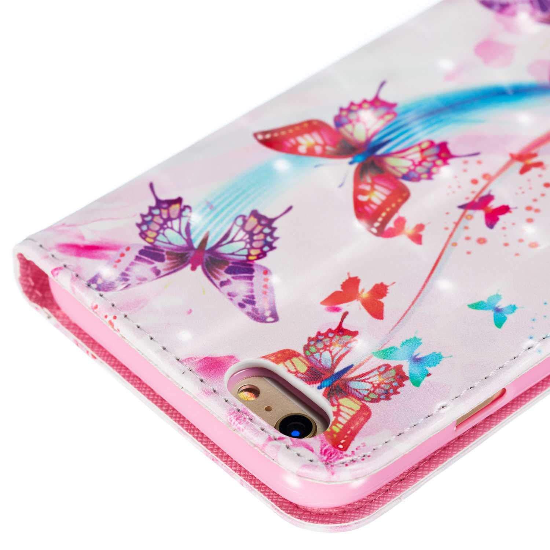 6s Plus Schlanke Handyh/ülle DENDICO iPhone 6 Plus 6s Plus H/ülle 3D Leder Klapph/ülle Slim Lederh/ülle mit Schwarz TPU Innenraum Case f/ür Apple iPhone 6 Plus Elefant