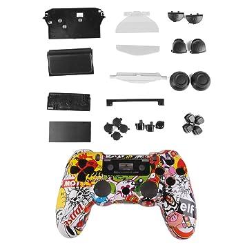 Kit Caso Cubierta Funda Protectora Shell Botón Para Mando PS4 Playstation4 Videojuego