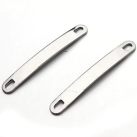 Forise - 20 piezas de conectores en blanco de acero ...