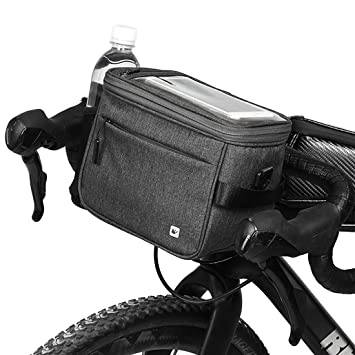 Bolsa de Manillar de Bicicleta Bolsa Delantera Impermeable para Bicicleta Bolso con Correa para Hombro con Soporte Cubierta de Lluvia Accesorio de Bicicleta
