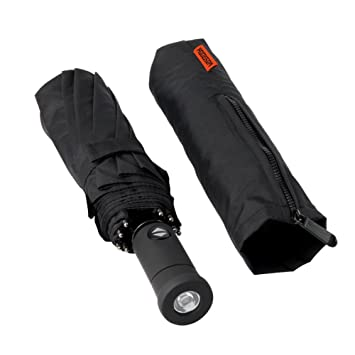 HODGSON Umbrella,Windproof Canopy, Auto open & Close Folding Black Rain Umbrella for Men