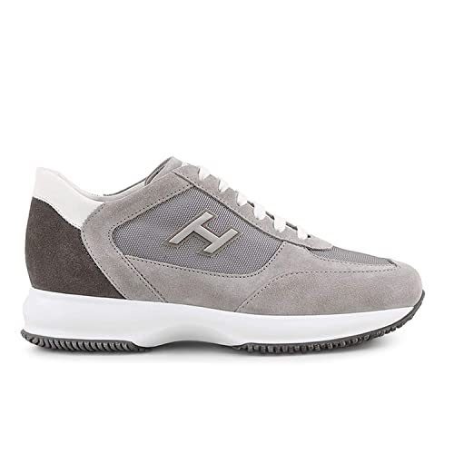 Hogan Sneakers Interactive Grigia in Suede e Tessuto