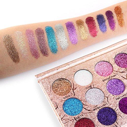 YJYdada Fashion 12 Colors Eyeshadow Palette Luxury Golden Matte Nude Eye Shadow - White Nude Amber