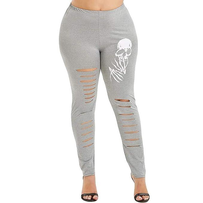 Mujer Pantalones Color sólido Elásticos Pantalones de Yoga ...