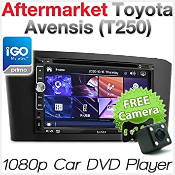 Toyota Avensis T250 - Reproductor de MP3 GPS para Coche, Reproductor de MP3, Radio y Reproductor de CD: Amazon.es: Electrónica
