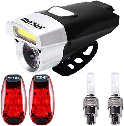 Cycling Bicycle LED Lamp USB Rechargeable Bike Head Front Torch /& Tail Light Set