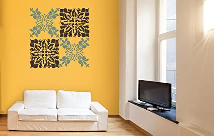 Asian Paints Royale Play Wall Fashion Bouquet Stencil/Wall Sticker for Home And Office Wall : asian paints wall art - www.pureclipart.com