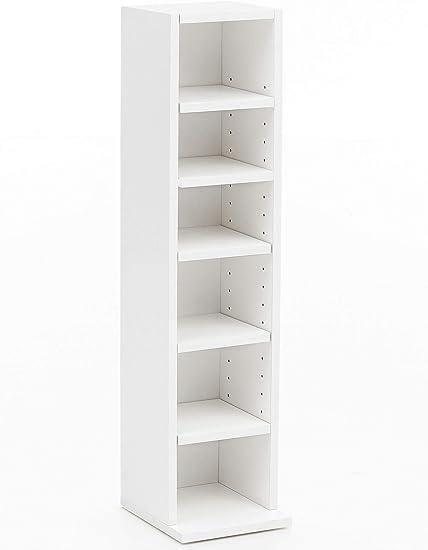WOHNLING WL5.336 - Estantería para Libros (21 x 91 x 20 cm), Color Blanco