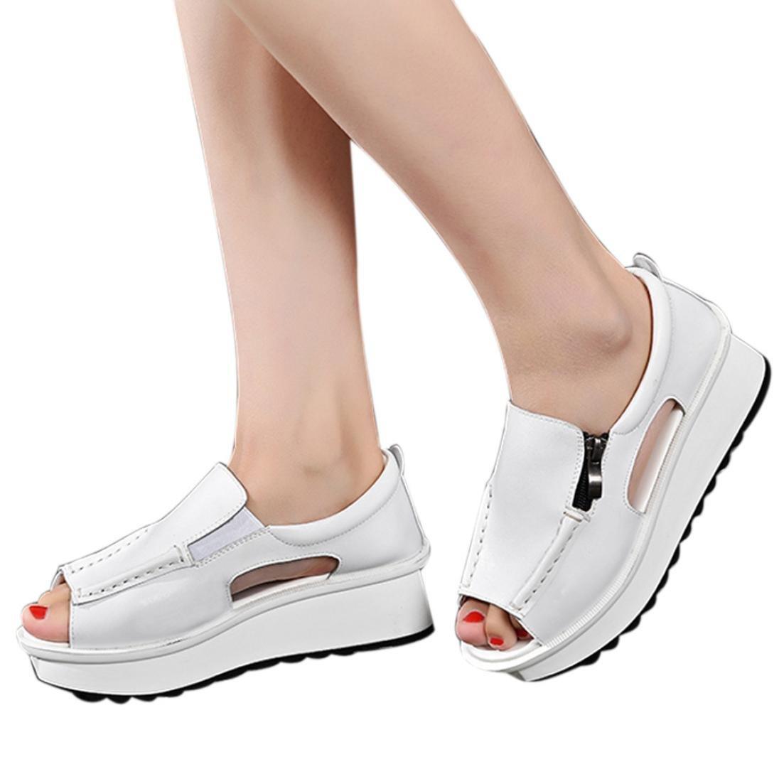 Zipper Platform Sandals,Clearance! AgrinTol Summer Women Sandals Wedges Open Toe Round Toe Shoes