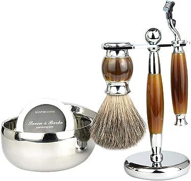 Shumo Set de Afeitadora Manual para Hombres, Set de Afeitado de ...