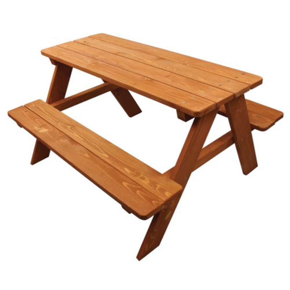 Home Wear Children's Wood Picnic Table, Red Wood