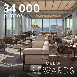 34.000 puntos MeliáRewards para canjear por noches de hotel  - Equivalentes a 2 noches de hotel* en Innside by Meliá, en Meliá Hotels & Resorts 4* o en Tryp by Whyndam 3* & 4*