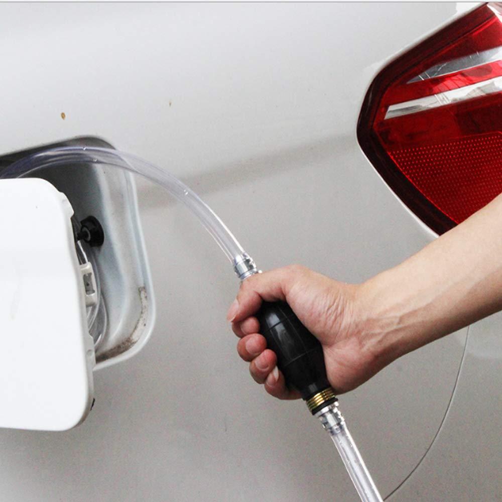 Leegicst Neueste High Flow Syphon Handpumpe,Handpumpe Umf/üllpumpe Tragbare Manuelle Auto Kraftstofff/örderpumpe Mit 2 Mt Siphon Schlauch f/ür Fl/üssigkeiten wie Wasser Diesel /& /Öl Not-Pumpe Benzin