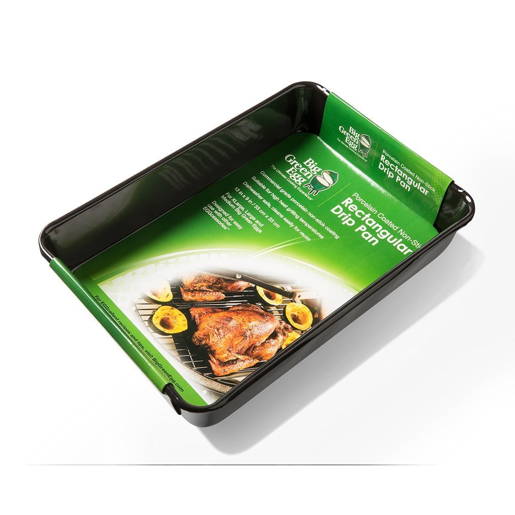 Big Green Egg Grill And Smoker Chicken And Turkey Roasting Bundle Pack - 2 Drip Pans - 13'' X 9'' Rectangular and 11'' Round With Nickel Plated Vertical Chicken And Turkey Holders by Big Green Egg (Image #6)