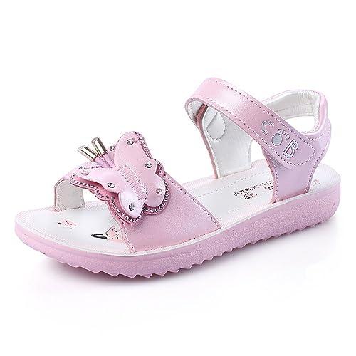 409b552a882 QZBAOSHU Baby Girls Sandals Summer Young Girls Flats Shoes for Big  GirlsLabel Size 34  1