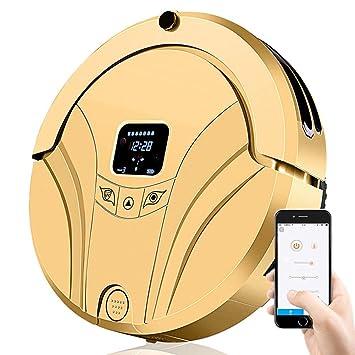 BAIVIT Robot Aspirador Smart App Control Remoto Automático Barredora Trapeador Limpieza del Hogar No Se Repite,Gold: Amazon.es: Deportes y aire libre
