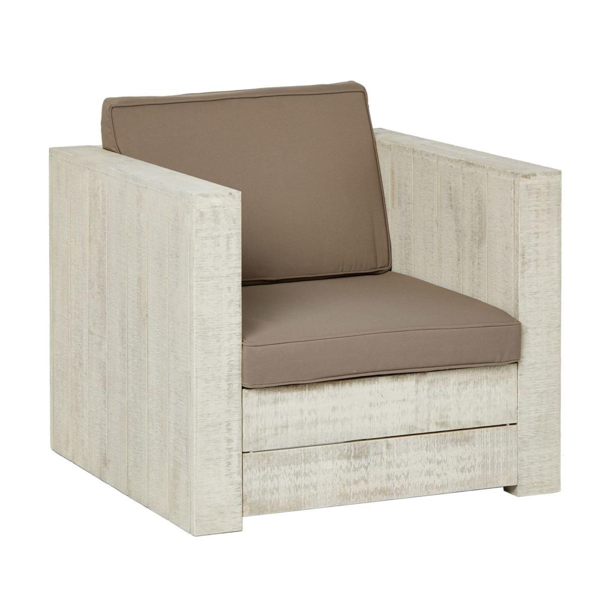 miaVILLA Sessel - Beach - gemütlicher moderner Sessel für den Garten - Sitz- und Rückenkissen - ohne Zierkissen - ca. B80 x T80 x H74 cm