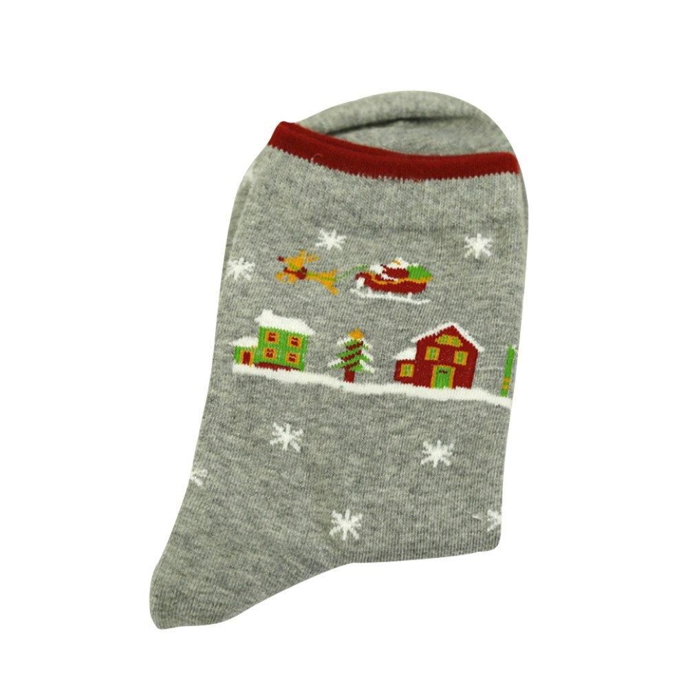Calcetines Mujer Divertidos Invierno Antideslizantes Calcetines Ocasionales De Las Mujeres De La Navidad Calcetines Unisex Lindos ANA-18731