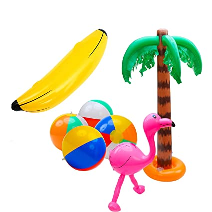 Amazon.com: SIMUR 7 Pack inflable playa juguetes inflables ...