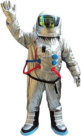 Mens Spaceman Costume Adult Astronaut Fancy Dress Space Man Nasa Outfit Suit