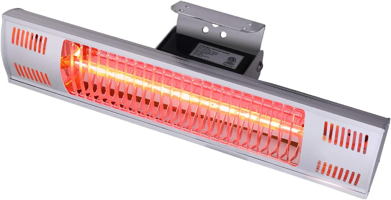 Star Patio Electric Patio Heater, Indoor/Outdoor Heater, Space Heater, Infrared Heater, Wall Mounted, Suitable as Gazebo Heater, Balcony Heater, Garage Heater, 1580