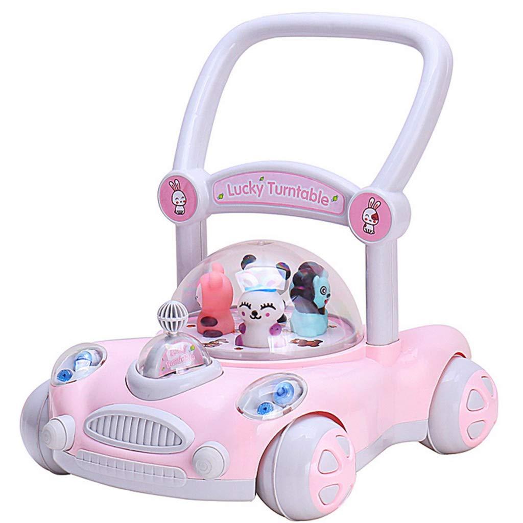 Meen Walker, 7-18 Months Baby Anti-Rollover Trolley Adjustable Lifting Children's Walker Baby Toys