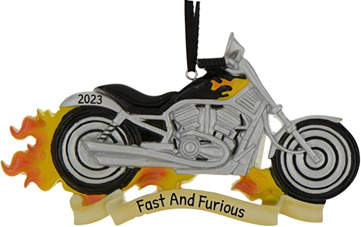 Road Rage MotorBike Personalized Christmas Ornament  Harley Davidson Motorcycle Corporate Gift Favor