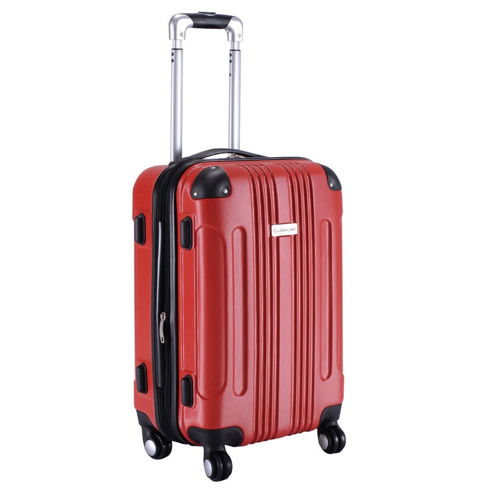 ABS Travel Bag Red 20'' by Inter Wealthy Store