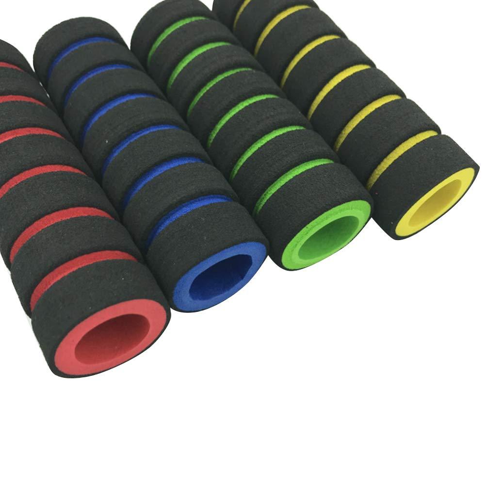 LIOOBO 2pcs Bicicletta Manubrio Bicicletta Grip Copertura della Spugna Copertura Antiscivolo Maniglia Bar Schiuma Spugna Grip Blu e Nero