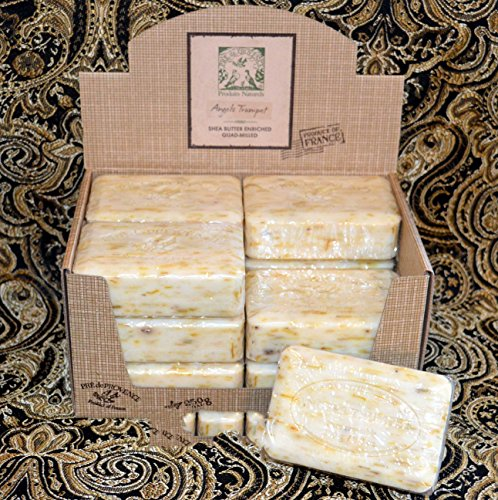 Case of 12 Pre de Provence Angel's Trumpet 250 gram shea butter extra large soap - Angel Skin Large