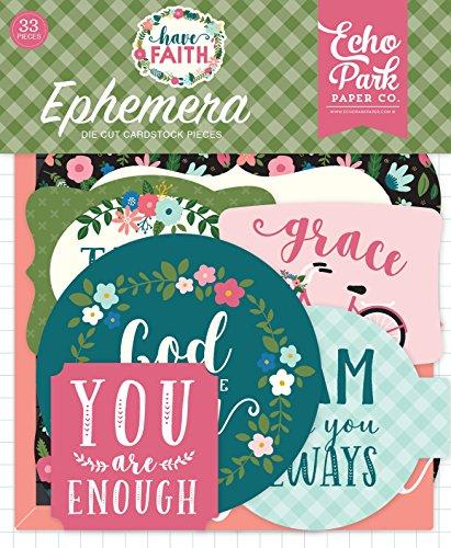 Echo Park Paper Company HAF152024 Have Have Faith Ephemera, Purple, Pink, Mint Green, Teal, -