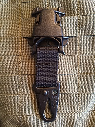 - Black Every Which Way Buckle Wolf HK clash Hook System Military Tactical T-ring Adaptor for Molle Pals Tring