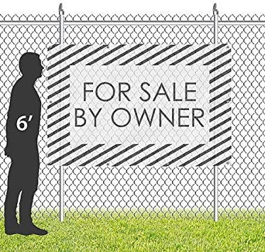Garage Sale 6x4 CGSignLab Basic Black Wind-Resistant Outdoor Mesh Vinyl Banner
