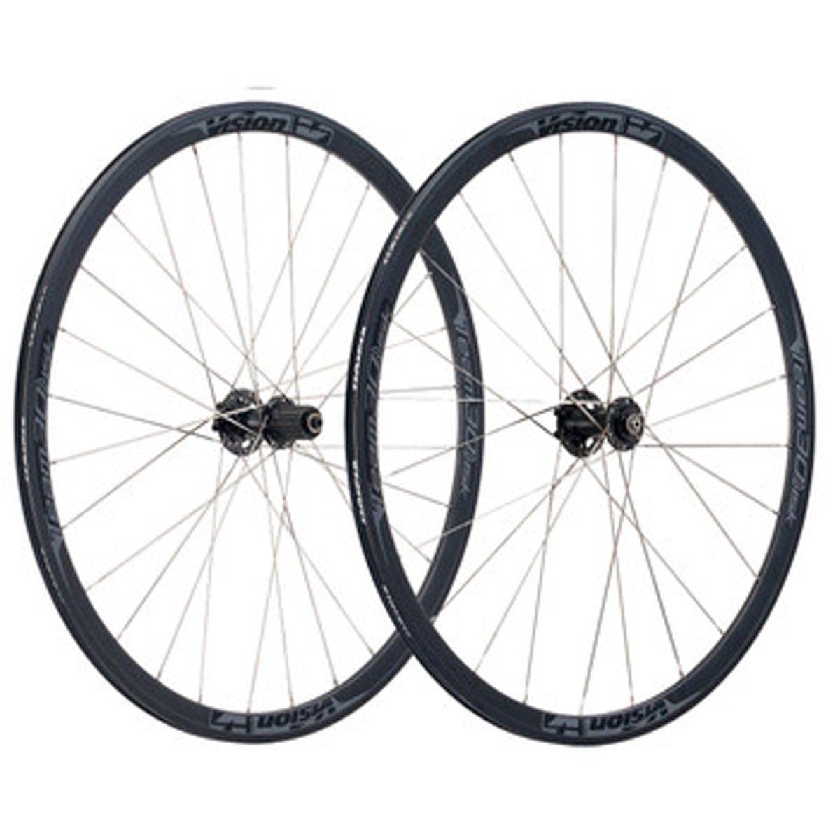 FSA Vision Team 30 ディスク 11速 自転車用タイヤセット BWH-VT-301/DB B06XB7QL89 24/28H 700c Black Decal Black Decal 24/28H 700c
