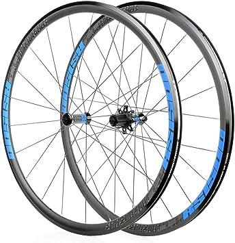 Juego Ruedas Bicicleta 700C Rueda Trasera Delantera para CX Bicicleta Carretera Ultraligero Freno Llanta 8/9/10/11S Piñones Cassette Rodamiento Sellado NBK QR 1740g (Color : Blue): Amazon.es: Deportes y aire libre