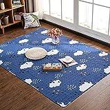 Japanese Style Tatami Rugs - MeMoreCool 100% Cotton Fresh Feelings Healthy Home Living Decor Anti-slipping Carpets Living Room Bedroom Crawling Mats
