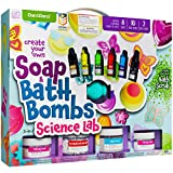 Soap & Bath Bomb Making Kit for Kids - 3-in-1 Spa Science Kits For Kids : Complete Soap Making Kit & Make Your Own Bath Bombs, Soap & Bath Scrubs : Kids Science Kit For Kids - Gift for Girls and Boys