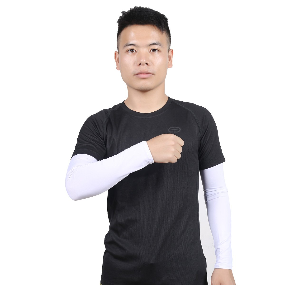 Hi-crazystore Arm Sleeves Sun UV Protection Sleeves (White)