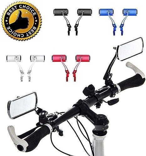 DYHQQ Espejos para Bicicletas, 1 par Aluminio Montaña Bicicleta ...