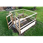 """Deer-Proof Just Add Lumber Vegetable Garden Kit - 8'x8' 9 DOES NOT INCLUDE LUMBER. Kit includes everything but the lumber: 8 Raised bed brackets, black nylon netting for fencing/trellis, black vinyl-coated steel wire for gate, ceramic-coated rust resistant screws, plus all other required hardware and detailed instructions Buy your own rough lumber locally - Build the ultimate vegetable garden with this kit. Required rough construction lumber : (10) 2""""x10""""x8'; (1) 2""""x10""""x6'; (6) 2""""x4""""x12'; (2) 2""""x4""""x8'; (3) 2""""x2""""x12'; (1) 2""""x2""""x8'; (4)1-5/8""""x1-5/8""""x12' (actual size). Note: the lumber boards will need to be further cut into the sizes described in the assembly instructions Gated garden keeps out deer, rabbits and dogs"""