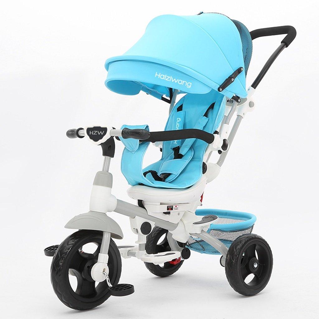 子供の三輪車1-7歳のベビーカーベビーバイクベビーバイク、星空スカイブルー/モーニングフォグブルー、77 * 52 * 107センチメートル ( Color : Morning fog blue ) B07CC9Q863