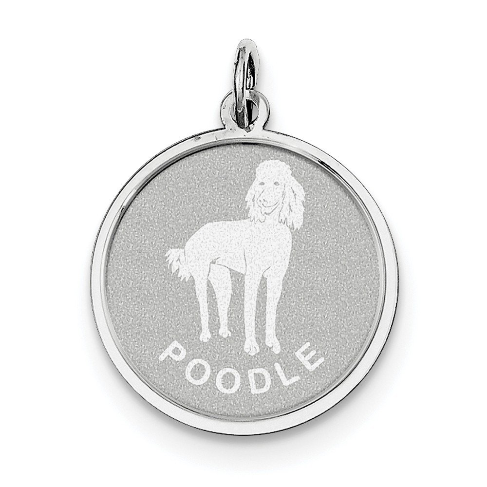 Sterling Silver Poodle Disc Charm